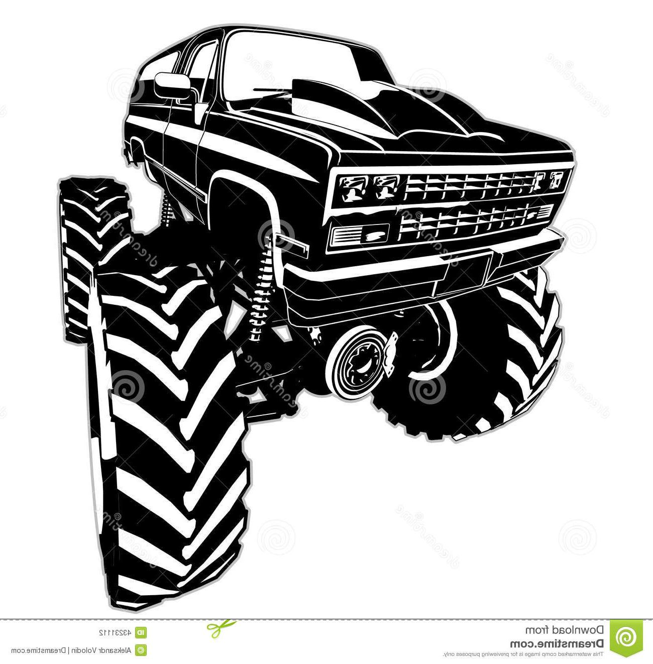 Best Lifted Truck Drawings Vector Photos » Free Vector Art.