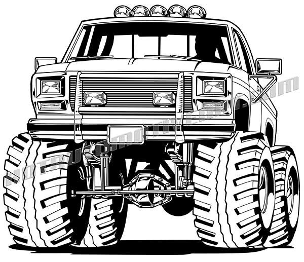 80's Lifted 4x4 Pickup Truck.
