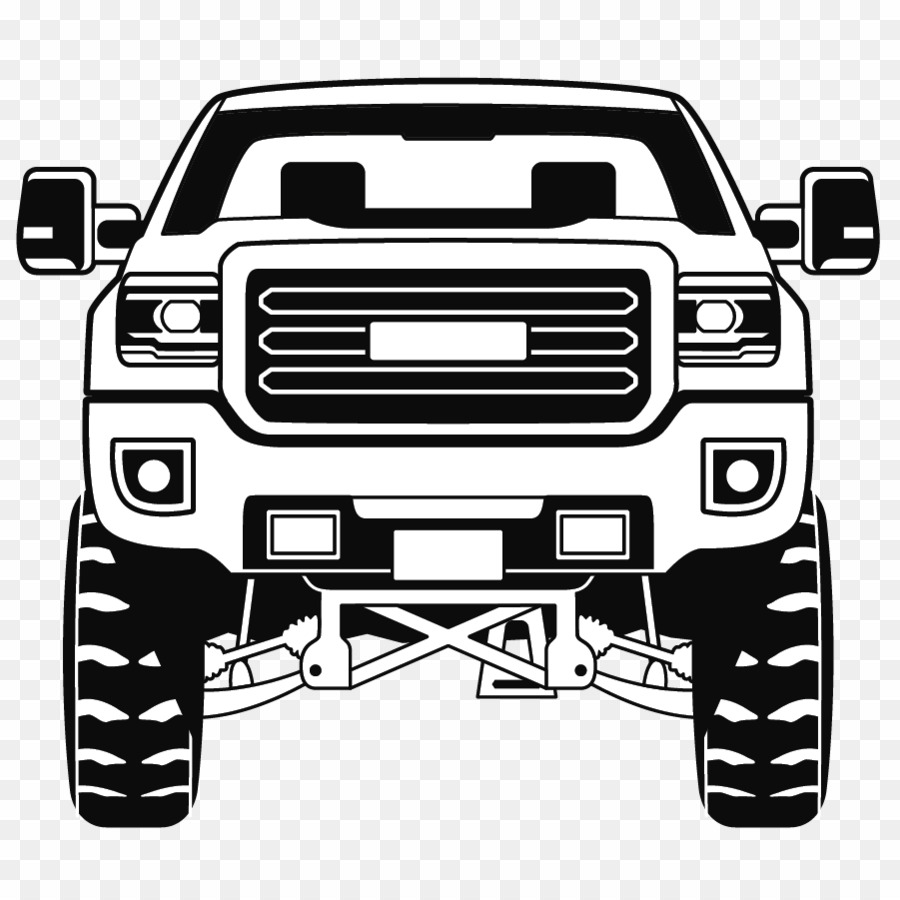 Lifted Truck PNG Chevrolet Silverado Clipart download.