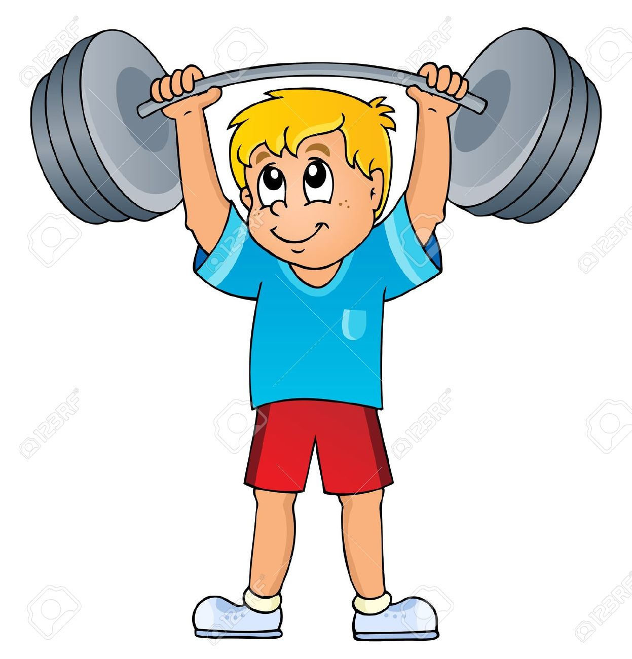 Weight lifting clipart #10