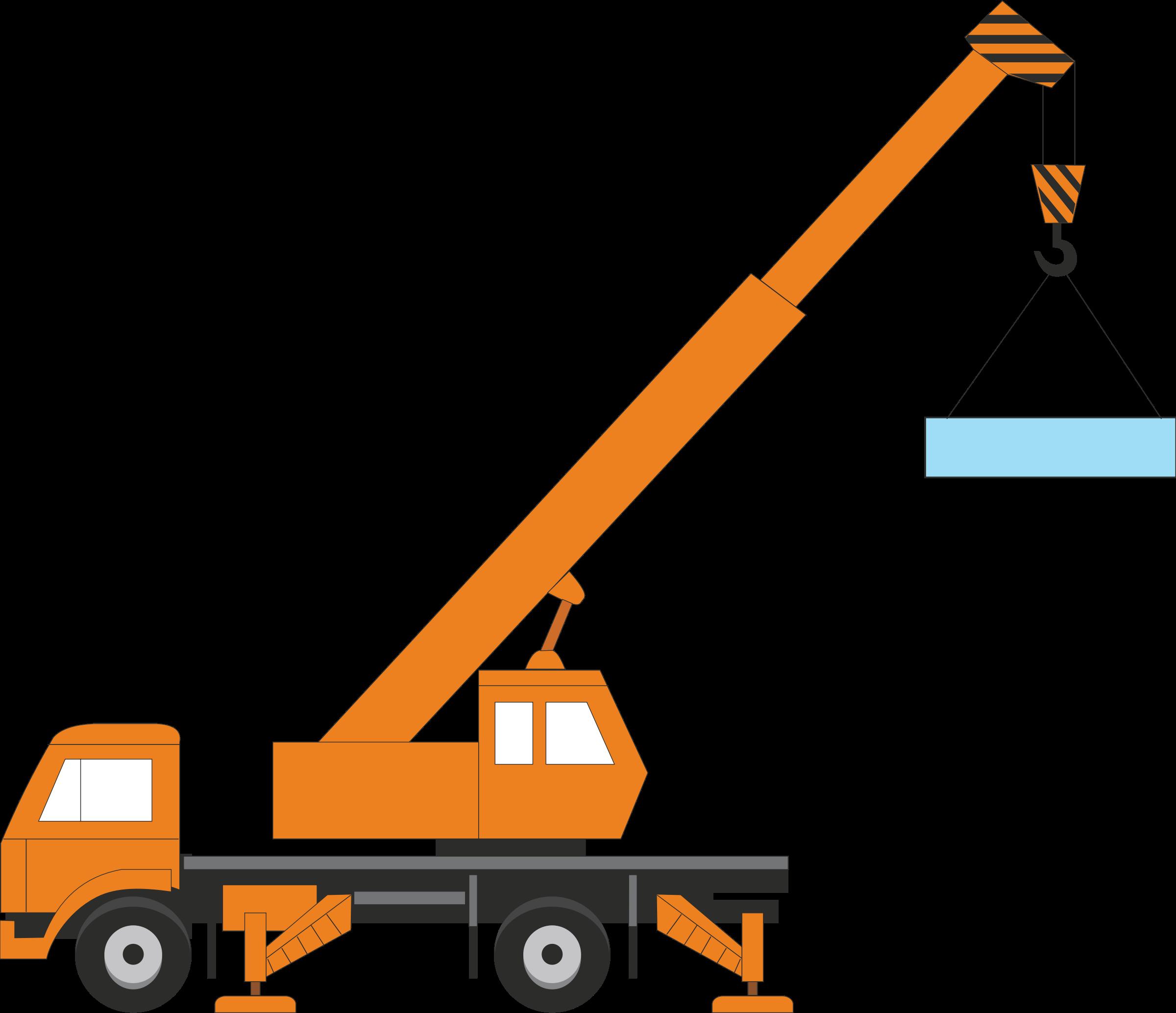 Clip Art Lift Truck Crane.