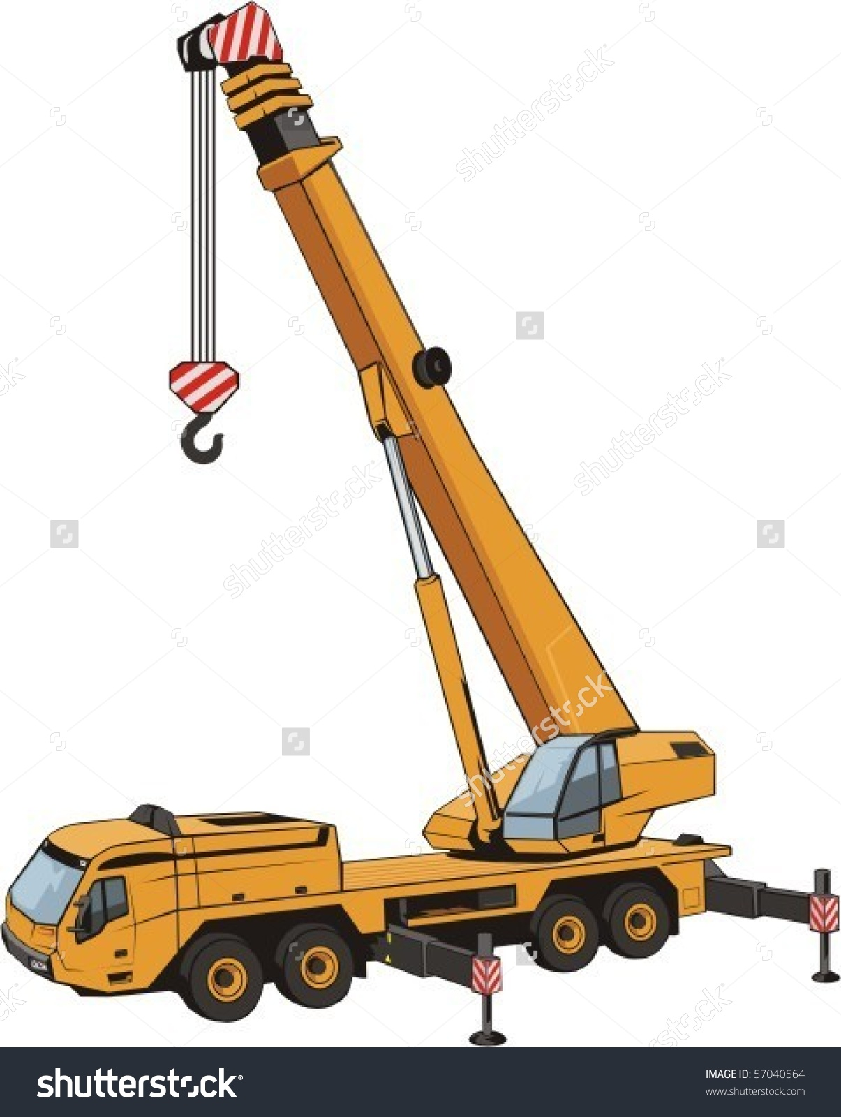 Mobile Crane Lifted By Arrow Stock Vector 57040564.