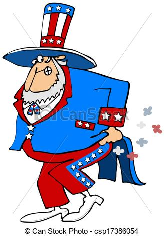 Stock Illustrations of Uncle Sam has gas.