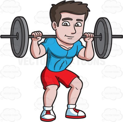 Showing post & media for Cartoon guy lifting big weights.