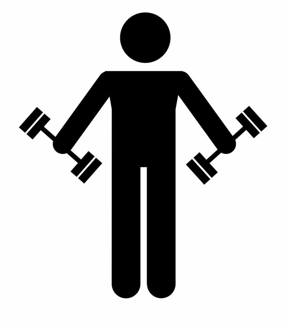 Man Lifting Weight.