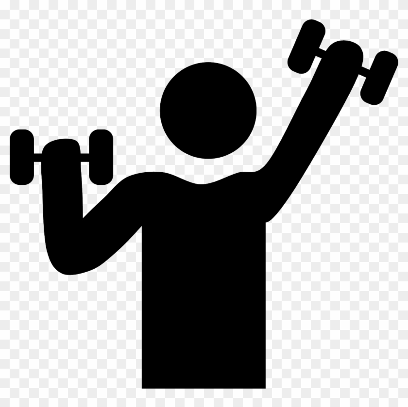 Banner Black And White Library Dumbbells Clipart Personal.