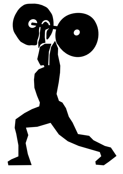 Female Weight Lifting Clipart.