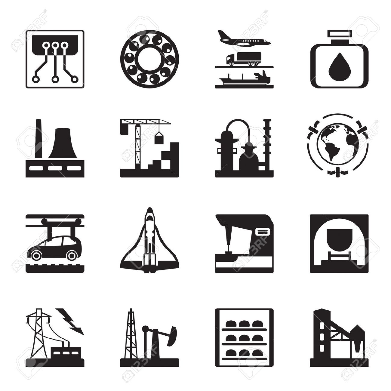Plants For Light And Heavy Industry Royalty Free Cliparts, Vectors.