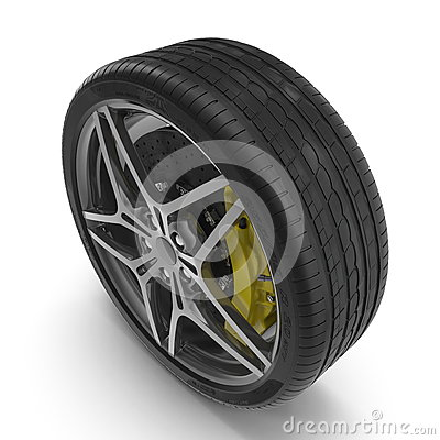 Sport Car Light Alloy Wheels Stock Illustrations.