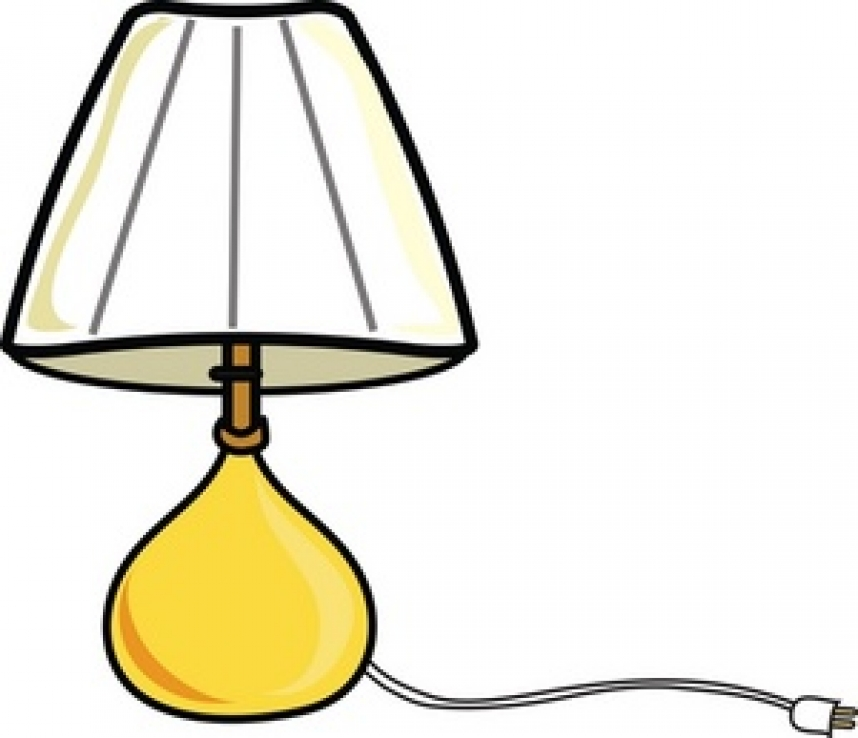 Lamp shade clip art.