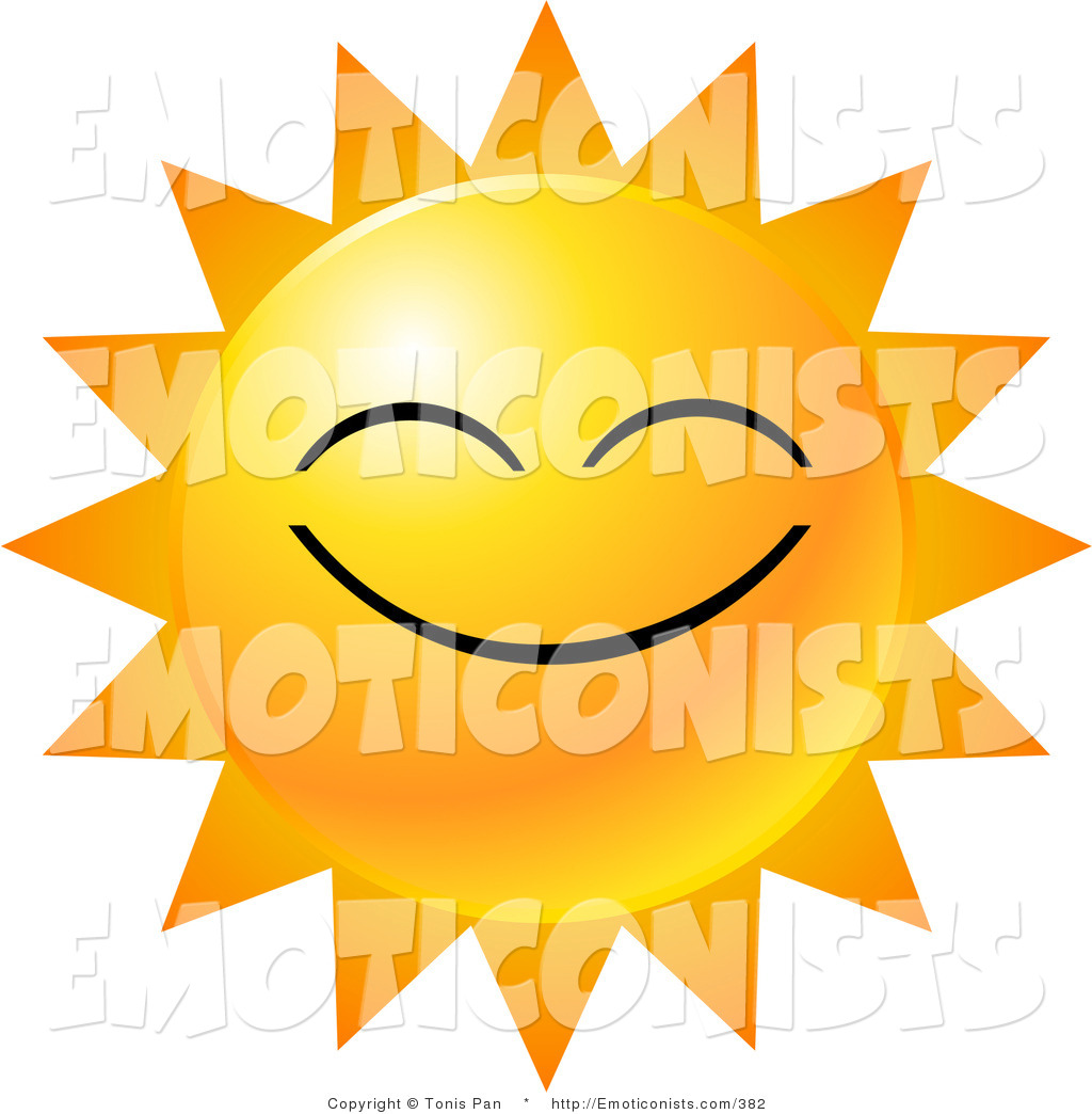 Smiling Sun Light Clipart.
