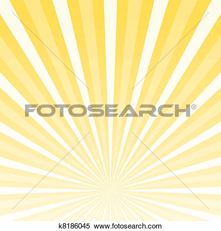 Clipart of Yellow Bright Light Beams k11656414.