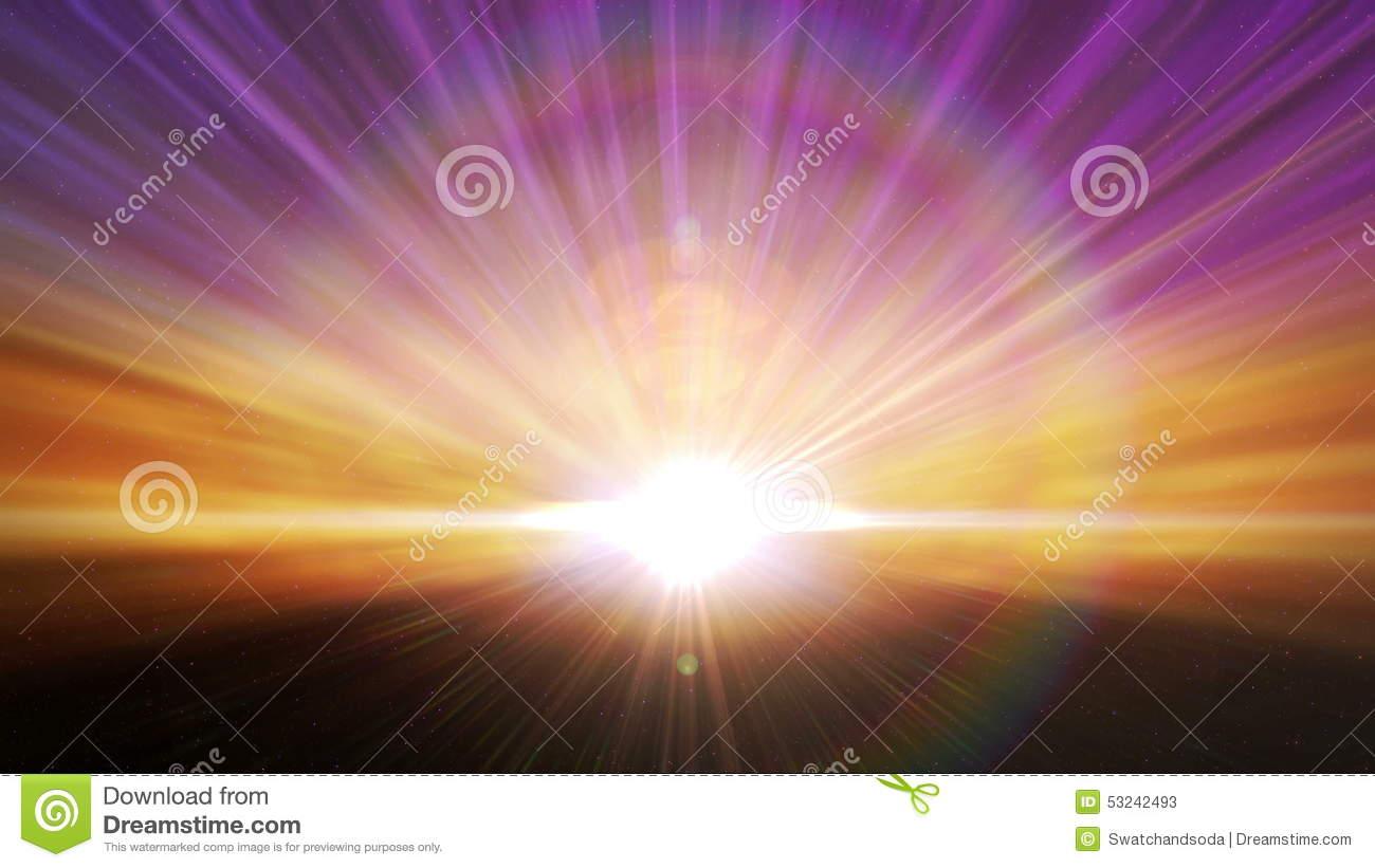 Cosmic Horizon Light Burst Loop Stock Video.