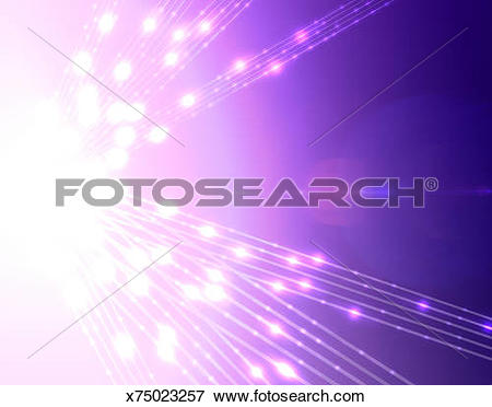 Stock Illustration of Pulses of light emanating from source.