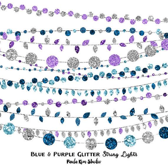 Light Blue Glitter Clipart.