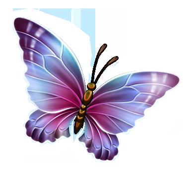 Light Blue Butterfly Clipart.