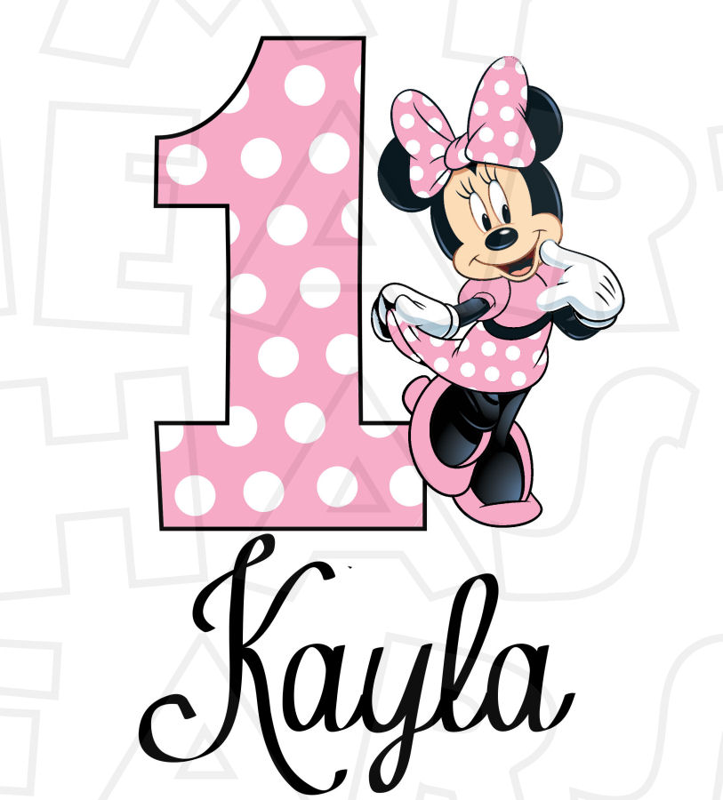 Minnie Mouse Light Pink Full Body Birthday Personalized ANY name.