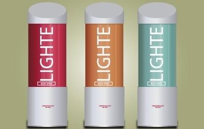 Light Body Spray Pack, vector graphics.
