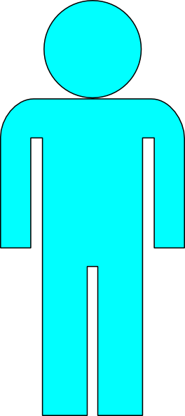 Body Icon Light Blue 2 Clip Art at Clker.com.