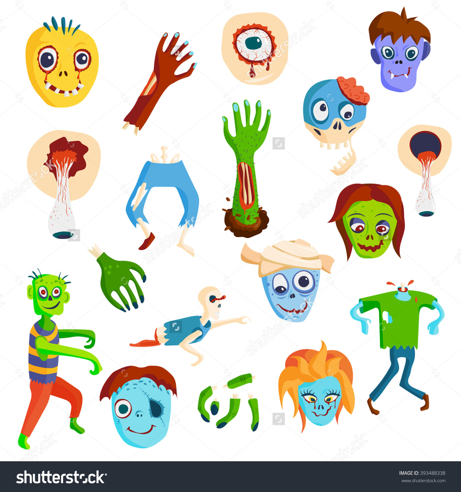 Zombie Body Parts Clipart.