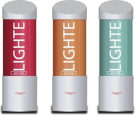 Free Vector Light Body Spray, vector graphics.