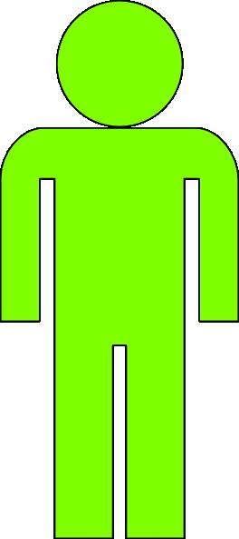 Body Icon Light Green Clip Art at Clker.com.