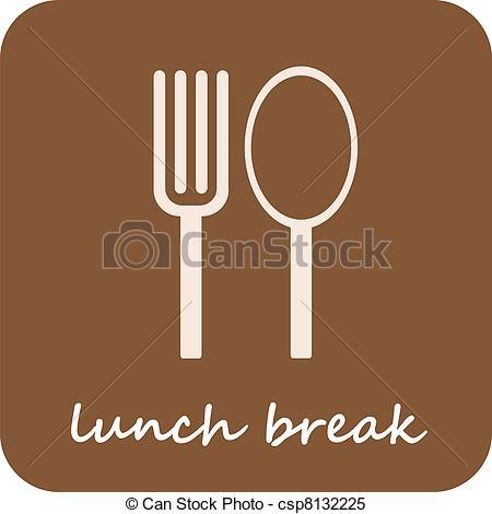 Clipart Vector of Lunch Break.