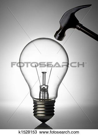 Stock Photo of break a light bulb k1528153.