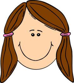 Clipart brown hair.
