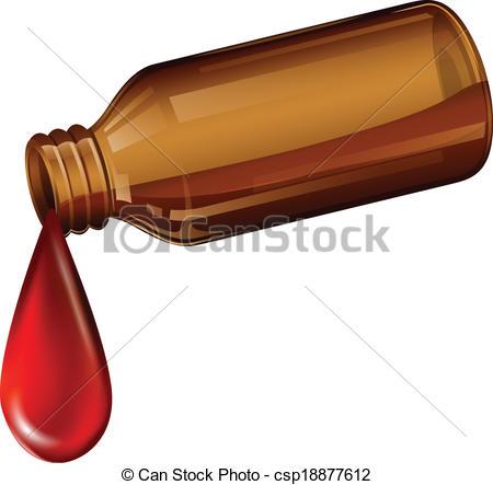 Vector Clip Art of A light brown medicine bottle.