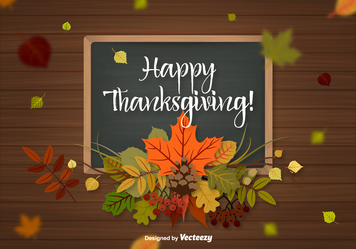 Thanksgiving Background Vector.