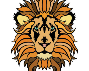 Lions head logo.