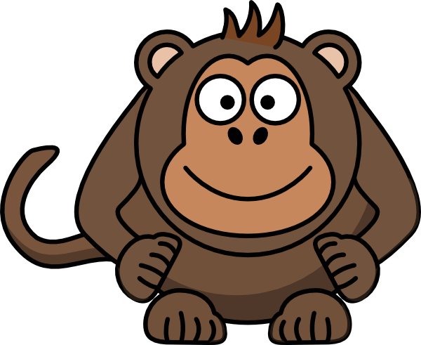 Light Brown Monkey Clip Art at Clker.com.