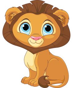Cute Cartoon Lions Cute peaceful cartoon lion.