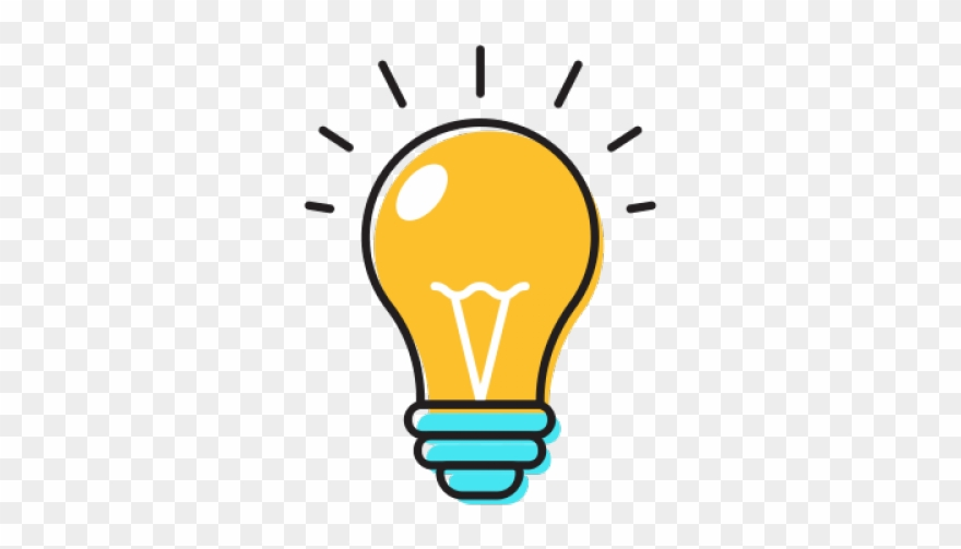 Idea Clipart Yellow Bulb.