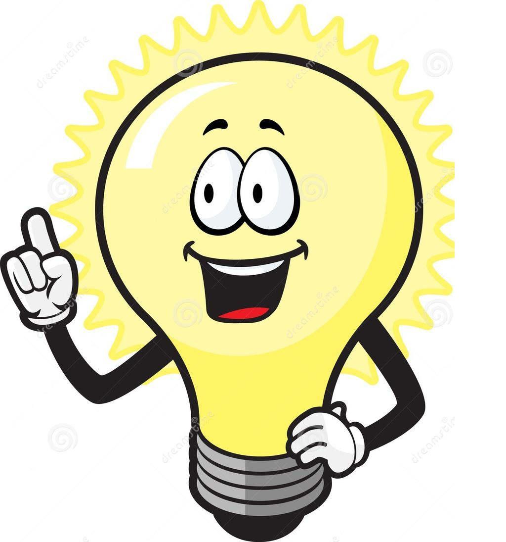 Thinking Light Bulb Clipart Guy.