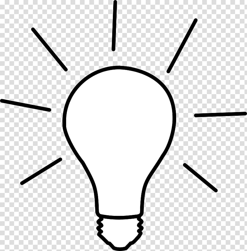 Incandescent light bulb Drawing , Of Lightbulb transparent.