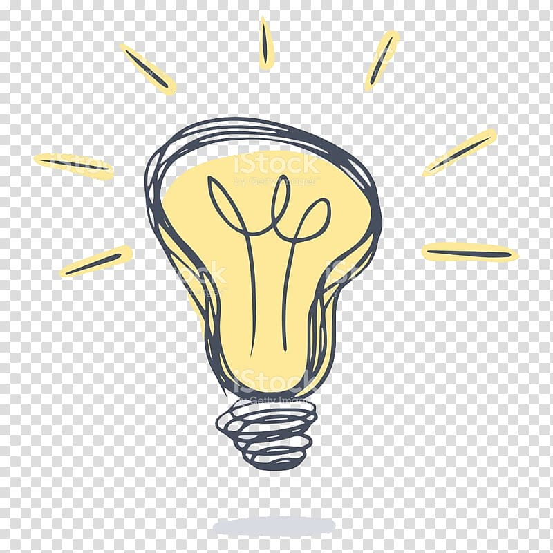 Light bulb , Drawing , lightbulb transparent background PNG.