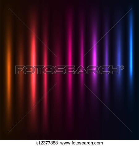 Clip Art of Abstract colorful light columns vector background.