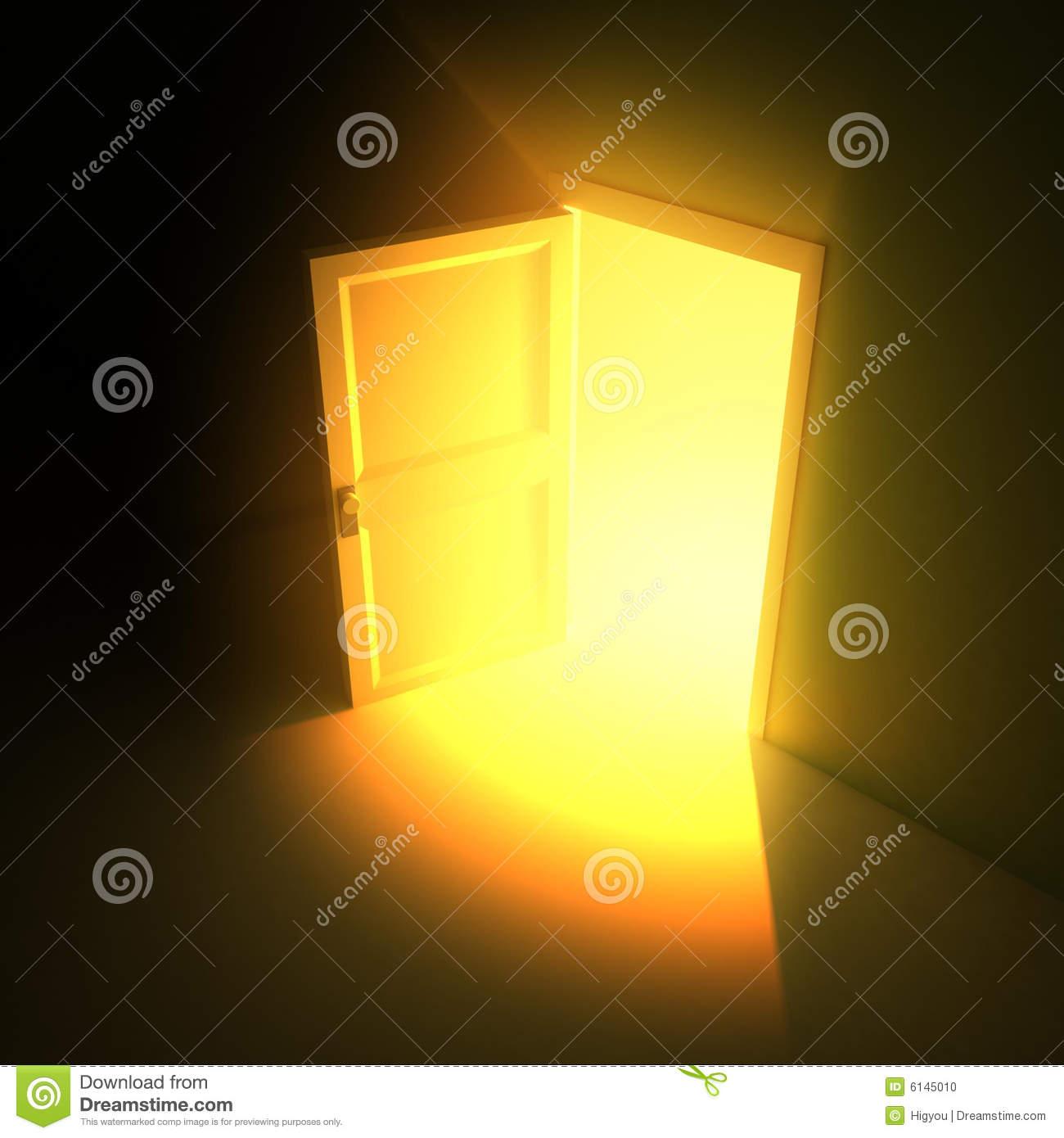 Open door clipart light.