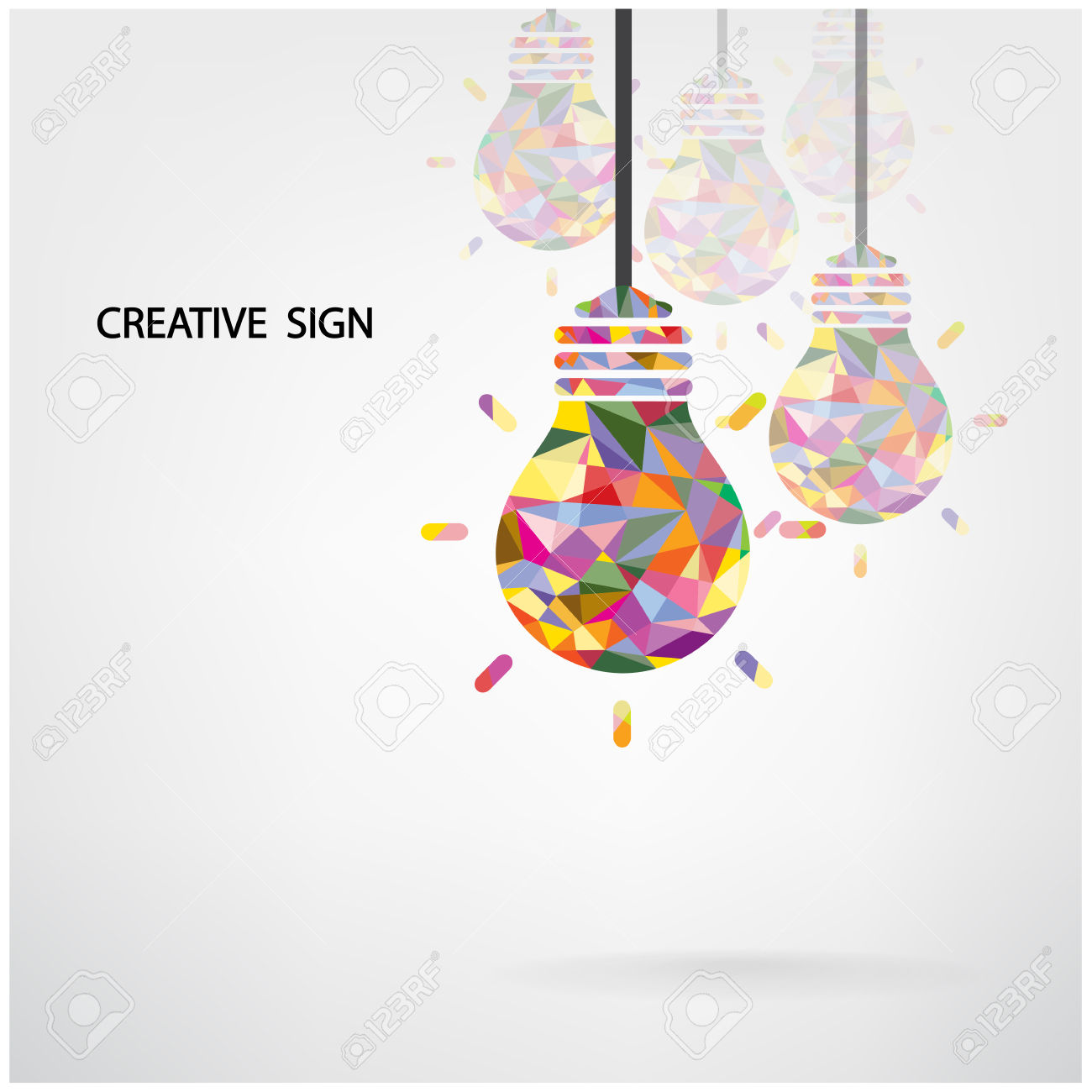 Creative Light Bulb Idea Concept Background Design For Poster.