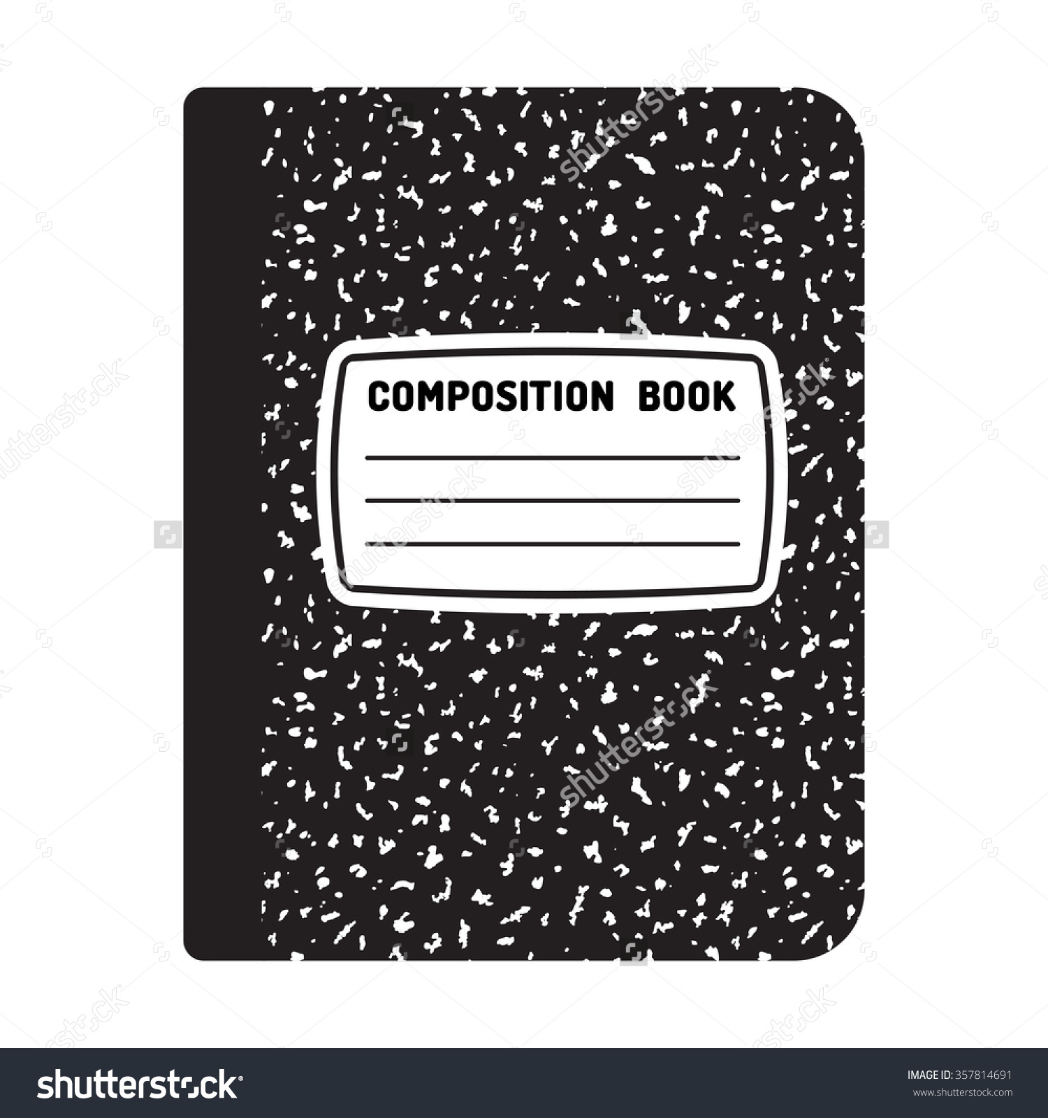 Composition notebook cover clipart.