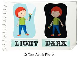 Light and dark clipart.