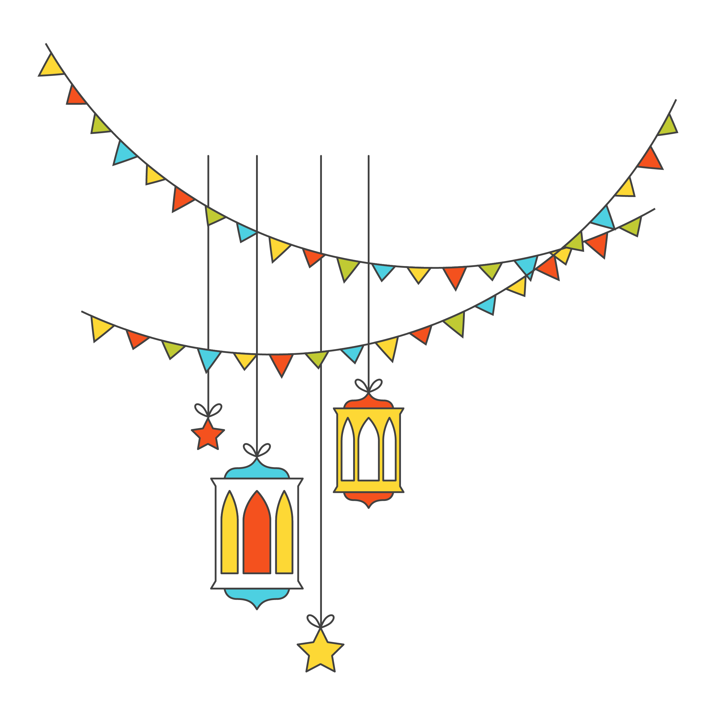 Download Decorative Flat Islamic Festival Light Lights.