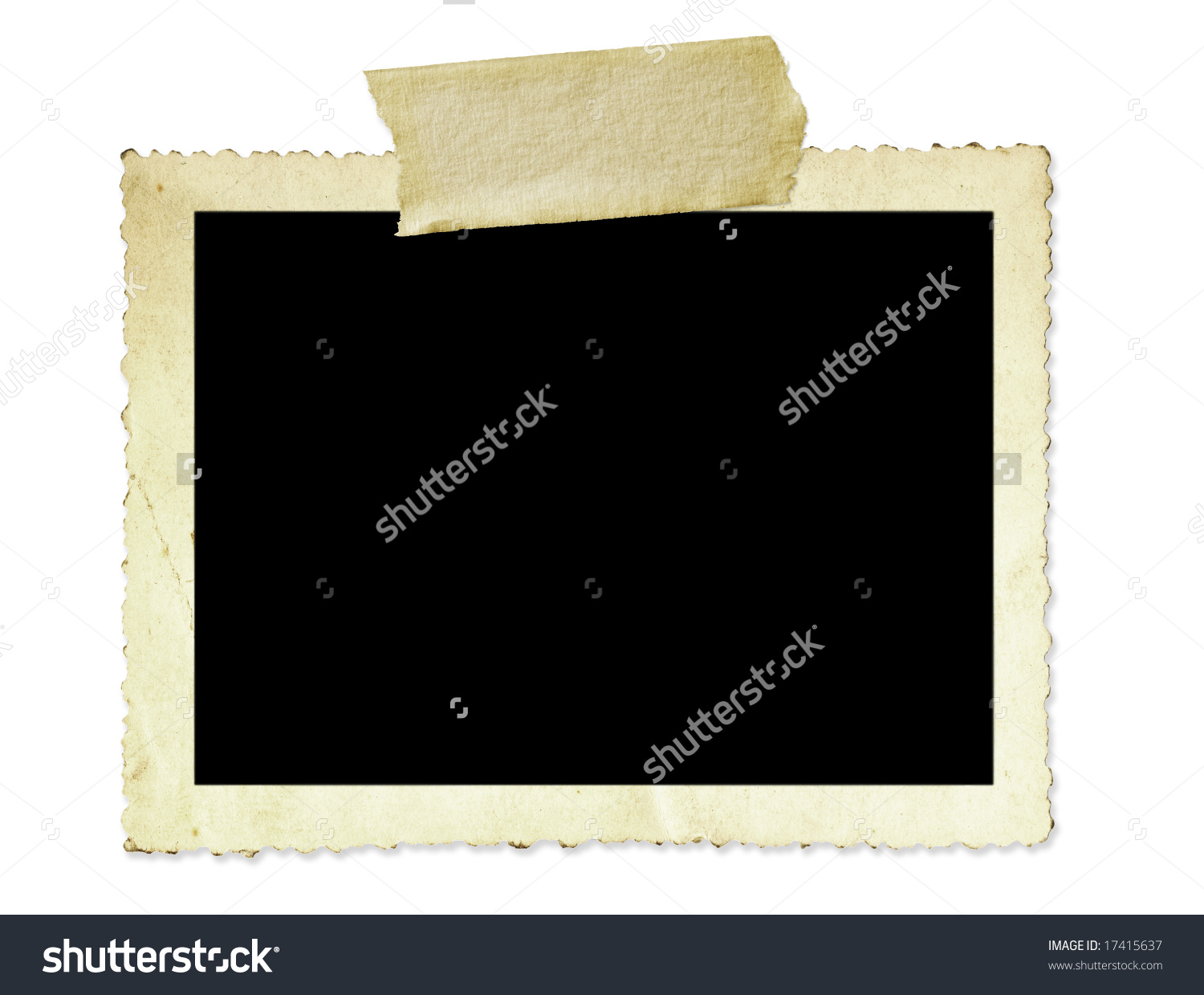 Scallopped Antique Photo Edge Clipart.