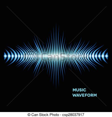 Vector Clip Art of Blue sound waveform with sharp edges.