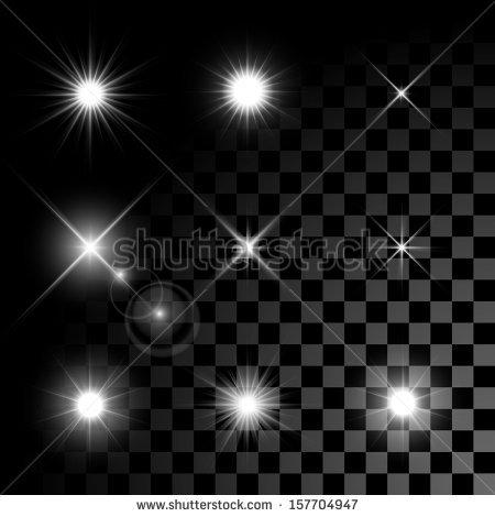 Light Glow Effect Stars Bursts Sparkles Stock Vector 400198162.