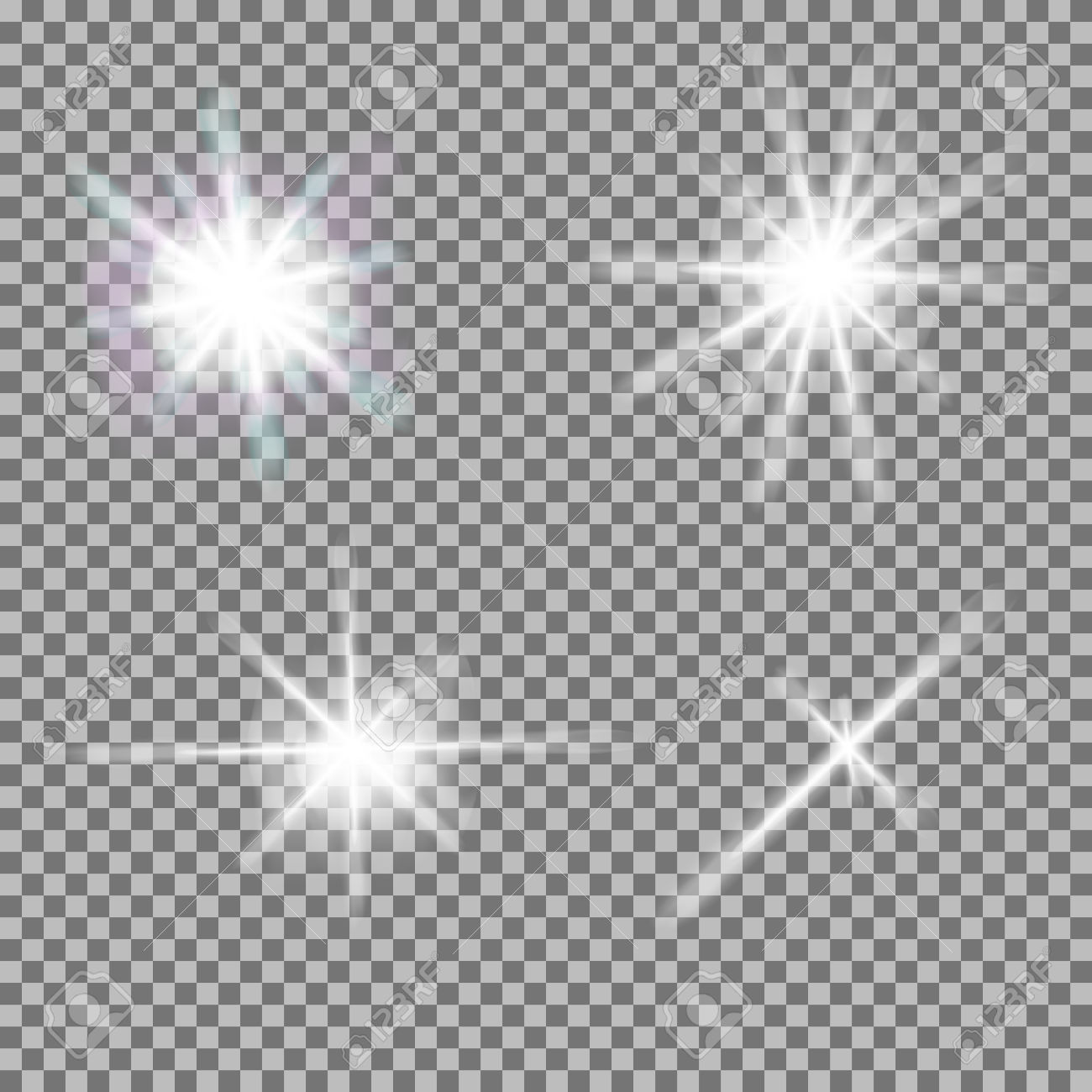 Light burst clipart transparent background.