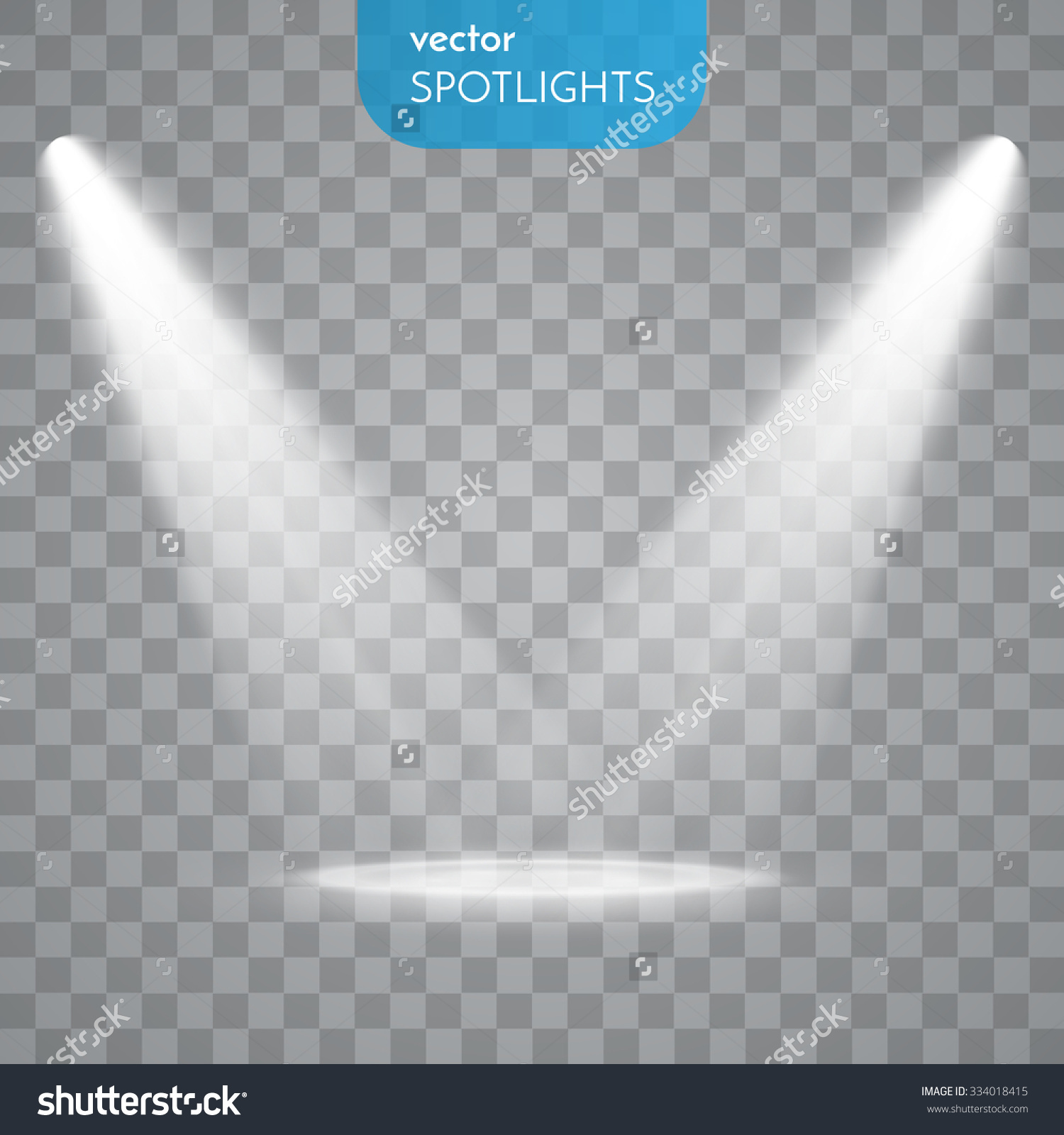 Vector Spotlights Scene Light Effects Stock Vector 334018415.