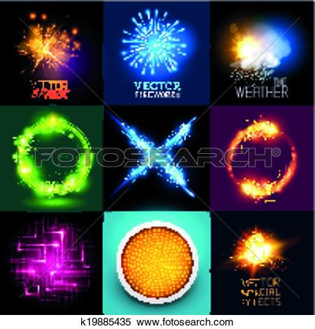 Clipart of Vector Light Effects Collection k19885435.